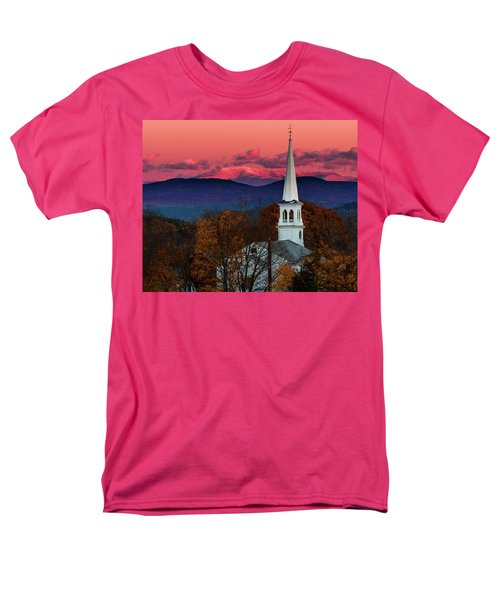 Peacham And White Mtn Sunset Men's T-Shirt  (Regular Fit) by Tim Kirchoff