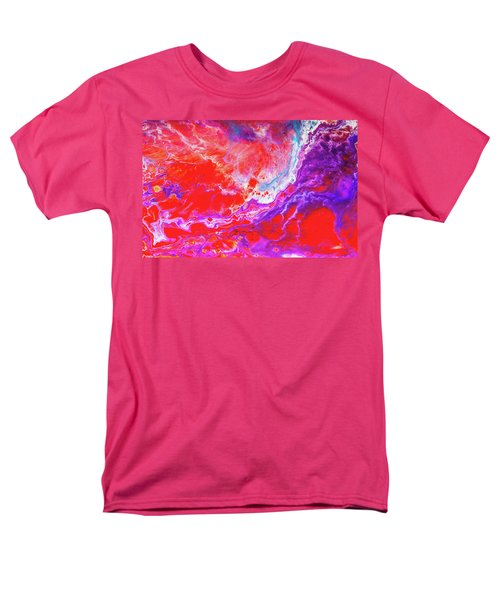 Perfect Love Storm - Colorful Abstract Painting Men's T-Shirt  (Regular Fit) by Modern Art Prints