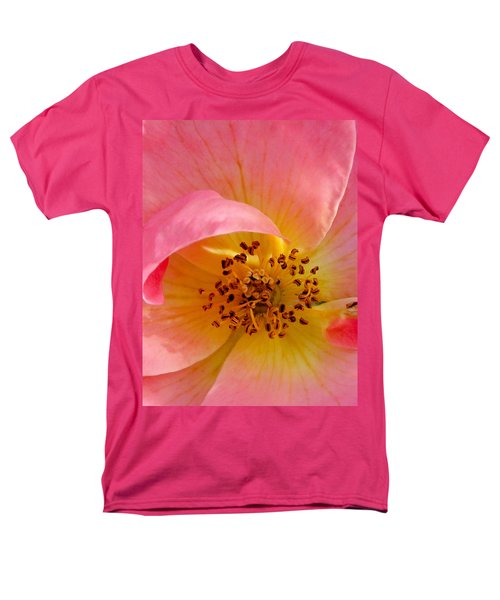 Men's T-Shirt  (Regular Fit) featuring the photograph Petal Pink by Geri Glavis