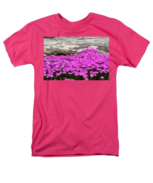 Men's T-Shirt  (Regular Fit) featuring the digital art Phlox by Barbara S Nickerson