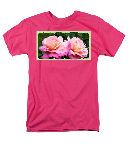 Men's T-Shirt  (Regular Fit) featuring the photograph Photogenic Peace Roses by Will Borden
