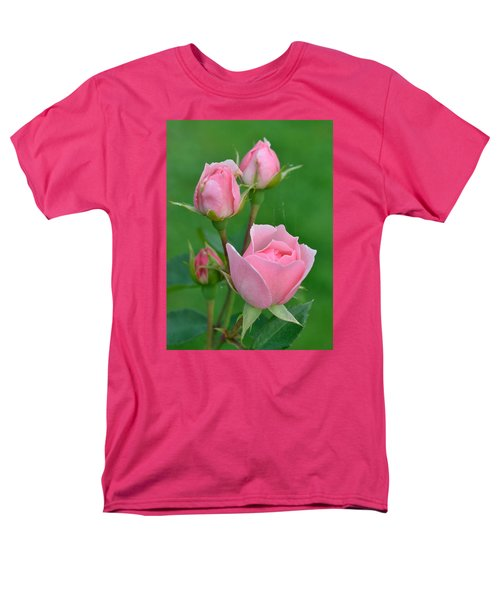 Pink And The Buds Men's T-Shirt  (Regular Fit) by Janet Rockburn