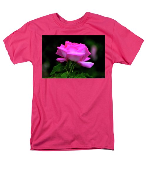 Men's T-Shirt  (Regular Fit) featuring the photograph Pink And White Rose 005 by George Bostian