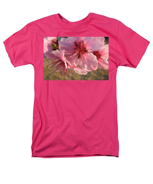 Pink Blossoms Men's T-Shirt  (Regular Fit) by Barbara Yearty