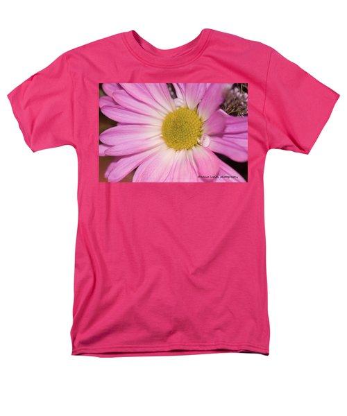 Pink Daisy Men's T-Shirt  (Regular Fit) by Nance Larson
