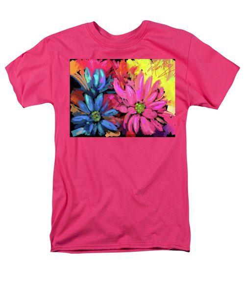 Men's T-Shirt  (Regular Fit) featuring the painting Pink Flower by DC Langer