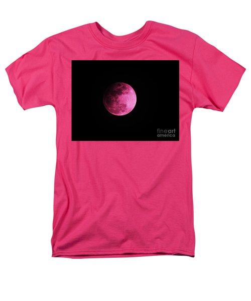 Pink Full Moon In April 2017 Men's T-Shirt  (Regular Fit) by J L Zarek