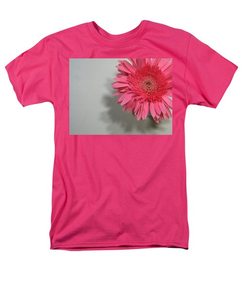 Men's T-Shirt  (Regular Fit) featuring the painting Pink Gerbera by Marna Edwards Flavell