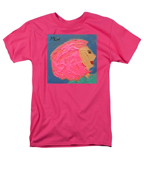 Men's T-Shirt  (Regular Fit) featuring the painting Pink  Hair by Mary Carol Williams