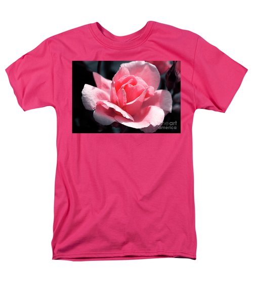 Pink In Light And Shadow Men's T-Shirt  (Regular Fit) by Rebecca Davis