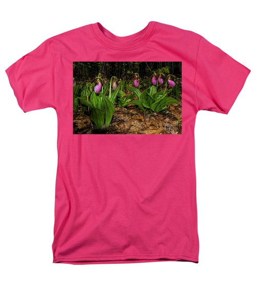 Pink Ladies Slipper Patch Men's T-Shirt  (Regular Fit)