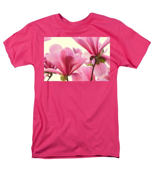 Pink Magnolias Men's T-Shirt  (Regular Fit) by Peggy Collins