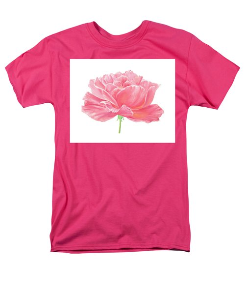 Men's T-Shirt  (Regular Fit) featuring the painting Pink Rose by Elizabeth Lock