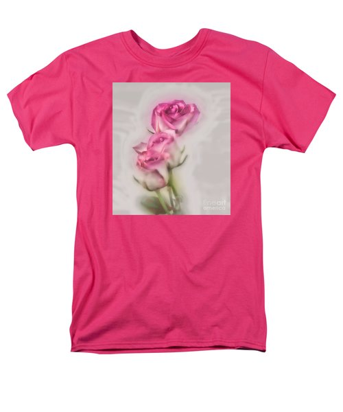 Pink Roses Men's T-Shirt  (Regular Fit) by Shirley Mangini