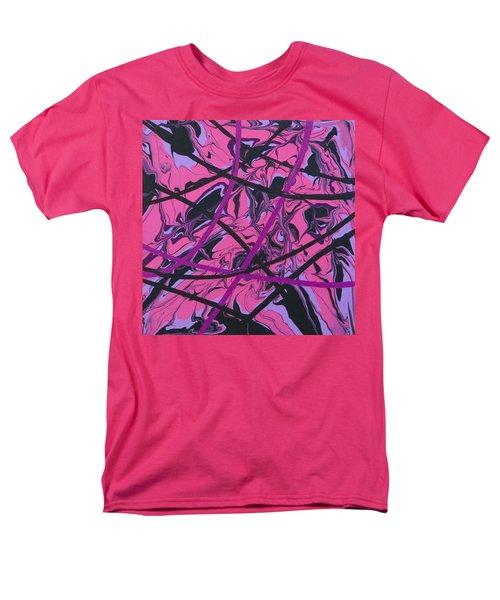 Pink Swirl Men's T-Shirt  (Regular Fit) by Teresa Wing