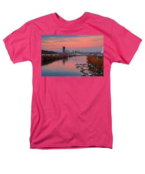 Pittsburgh 31st Street Bridge  Men's T-Shirt  (Regular Fit) by Emmanuel Panagiotakis