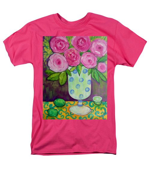 Men's T-Shirt  (Regular Fit) featuring the painting Polka-dot Vase by Rosemary Aubut