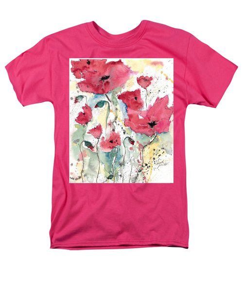 Poppies 10 Men's T-Shirt  (Regular Fit) by Ismeta Gruenwald