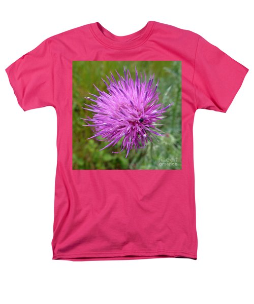 Purple Dandelions 2 Men's T-Shirt  (Regular Fit) by Jean Bernard Roussilhe