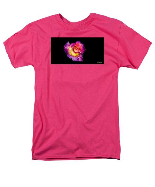 Rain-melted Rose Men's T-Shirt  (Regular Fit) by Rikk Flohr