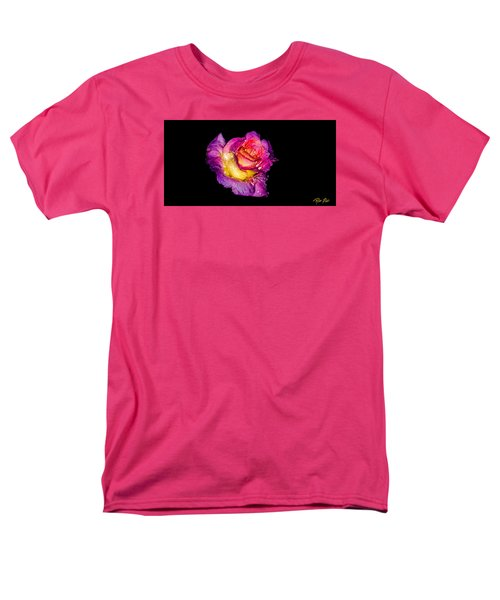 Men's T-Shirt  (Regular Fit) featuring the photograph Rain-melted Rose by Rikk Flohr