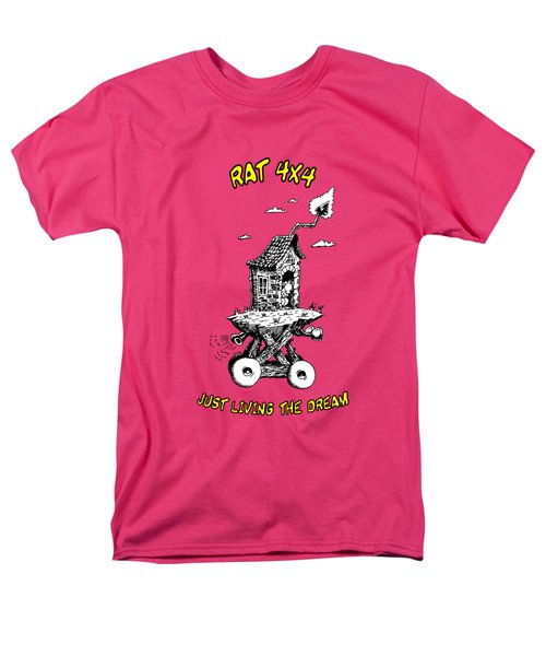 Men's T-Shirt  (Regular Fit) featuring the drawing Rat 4x4 - Just Living The Dream by Kim Gauge