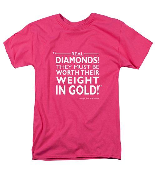 Real Diamonds Men's T-Shirt  (Regular Fit) by Mark Rogan