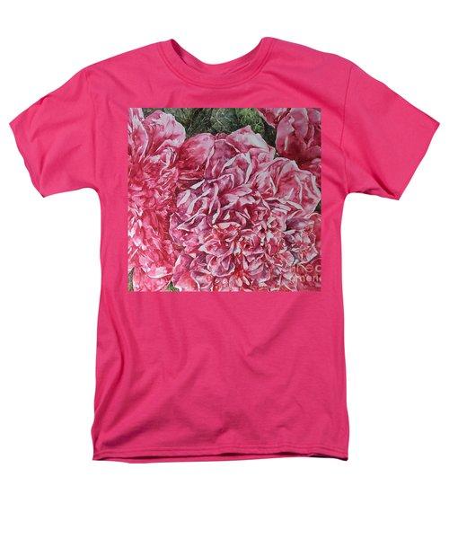 Red Peonies Men's T-Shirt  (Regular Fit) by Kim Tran