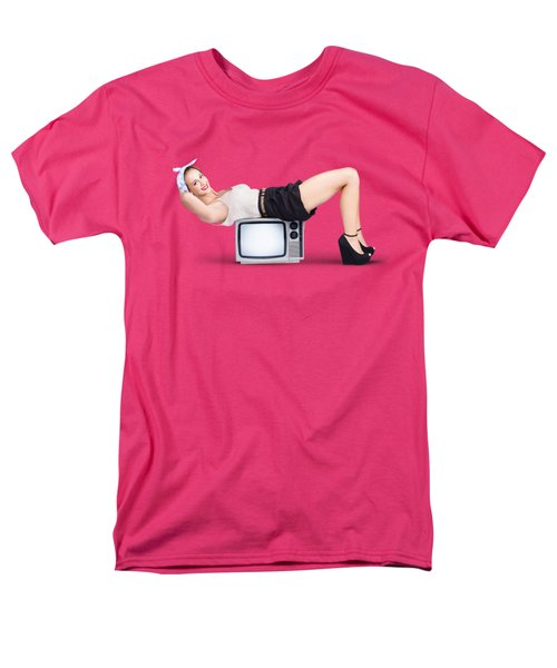 Men's T-Shirt  (Regular Fit) featuring the photograph Retro Housewife by Jorgo Photography - Wall Art Gallery