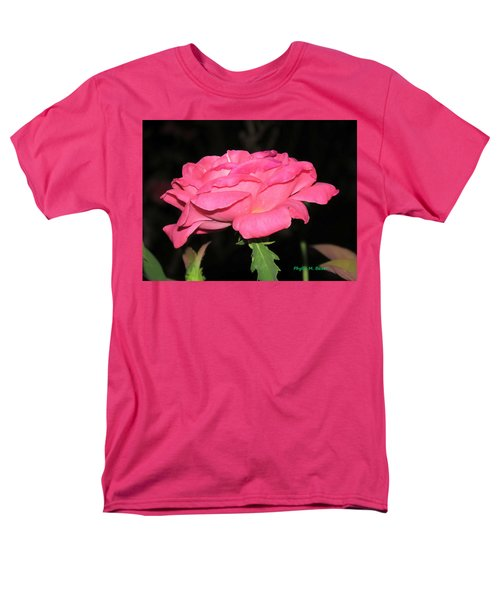 Men's T-Shirt  (Regular Fit) featuring the photograph Rose 1 by Phyllis Beiser