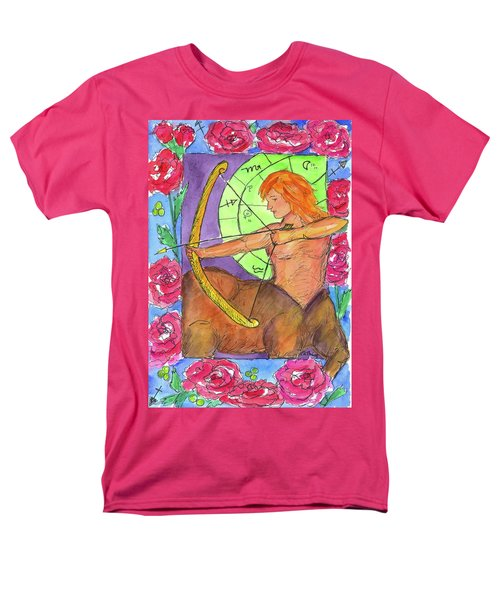 Men's T-Shirt  (Regular Fit) featuring the painting Sagittarius by Cathie Richardson