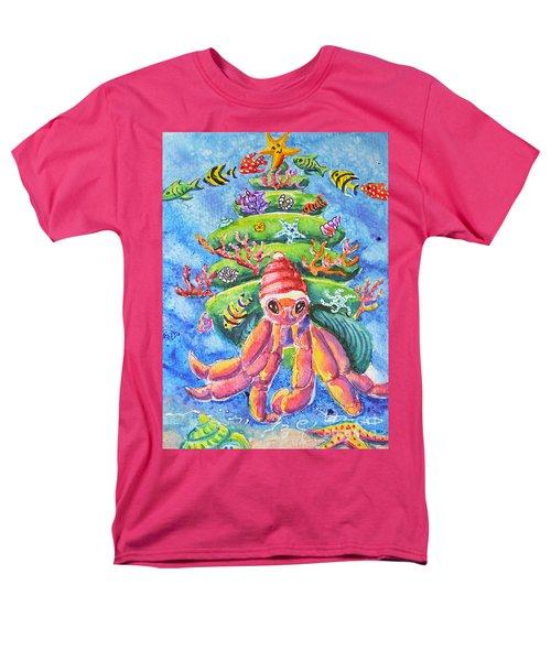 Santa Crab Men's T-Shirt  (Regular Fit) by Li Newton