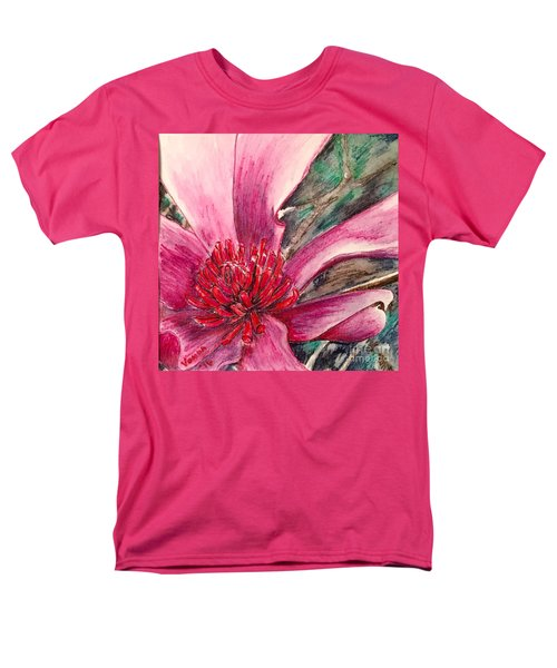 Men's T-Shirt  (Regular Fit) featuring the drawing Saucy Magnolia by Vonda Lawson-Rosa