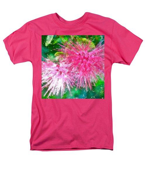 Soft Pink Flower Men's T-Shirt  (Regular Fit) by Joan Reese
