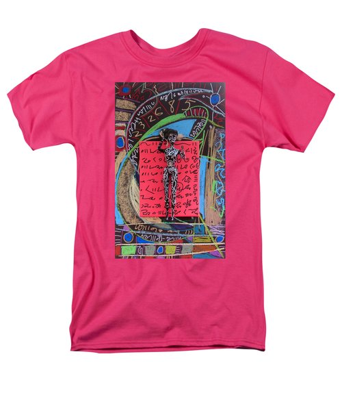 Men's T-Shirt  (Regular Fit) featuring the painting Solomon's Seal Herbal Tincture by Clarity Artists