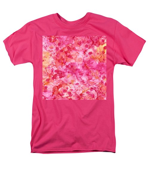 Spring Rose Abstract Men's T-Shirt  (Regular Fit) by Patricia Lintner