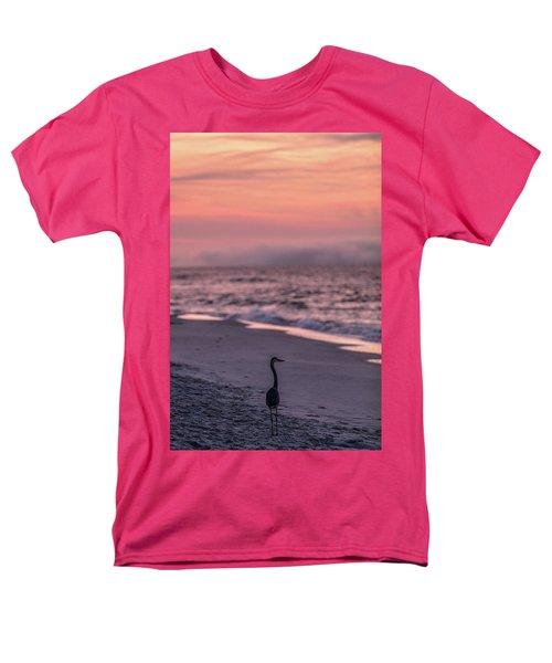 Men's T-Shirt  (Regular Fit) featuring the photograph Sunrise Beach And Bird by John McGraw