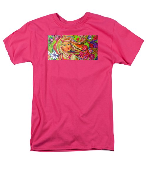 The Girl With The Flowers In Her Hair Men's T-Shirt  (Regular Fit) by Jeanette Jarmon
