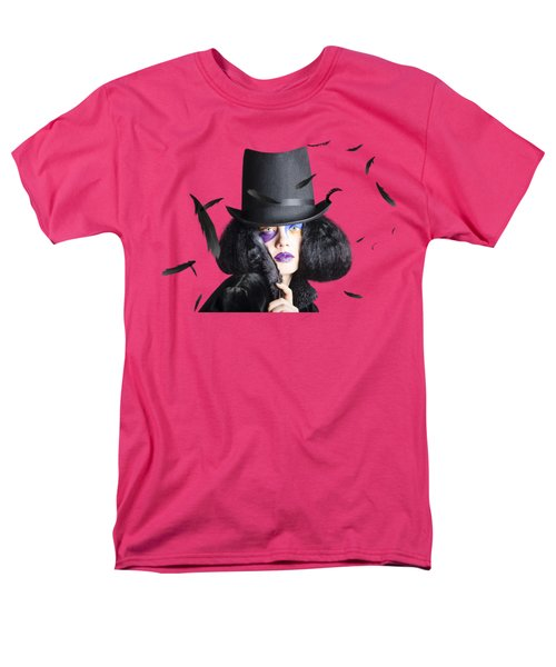 Vogue Woman In Black Costume Men's T-Shirt  (Regular Fit) by Jorgo Photography - Wall Art Gallery