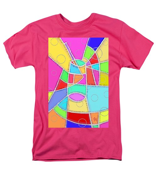 Water Glass Of Light And Color Men's T-Shirt  (Regular Fit) by Jeremy Aiyadurai