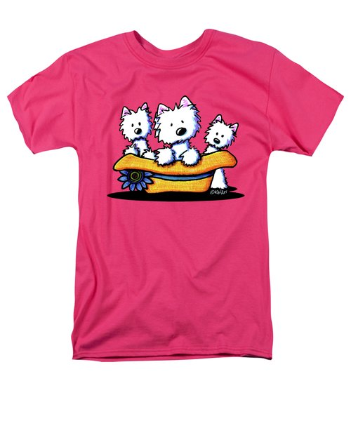Westie Hat Trio Men's T-Shirt  (Regular Fit) by Kim Niles