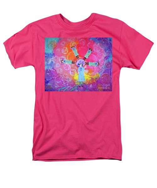 Men's T-Shirt  (Regular Fit) featuring the mixed media What To Do by Desiree Paquette