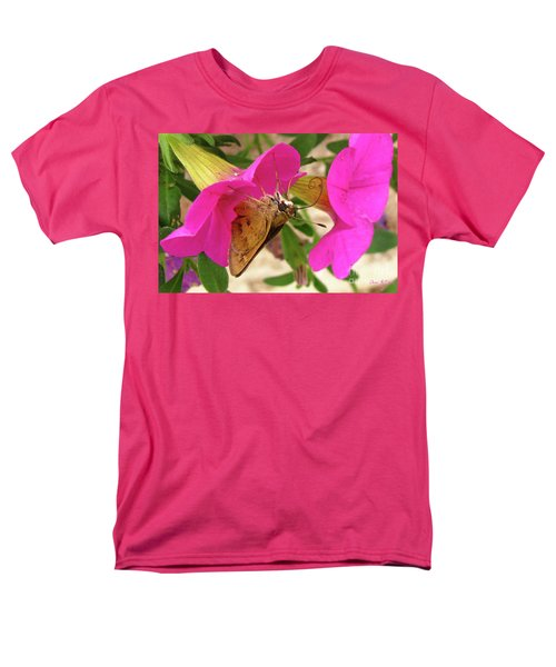 Whirl-about Skipper Butterfly Men's T-Shirt  (Regular Fit) by Donna Brown