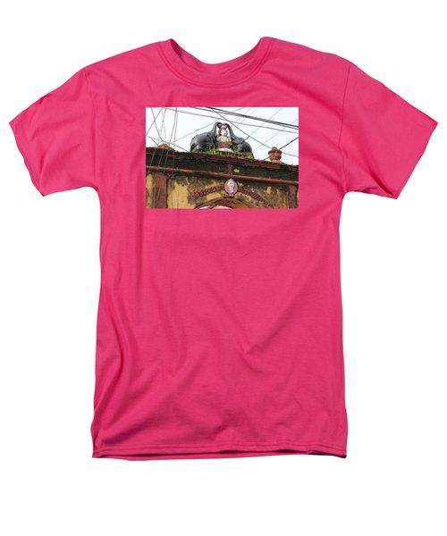 Wires And Lakshmi At Devi Temple, Kochi Men's T-Shirt  (Regular Fit) by Jennifer Mazzucco