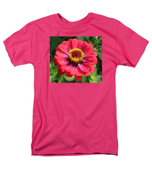 Men's T-Shirt  (Regular Fit) featuring the photograph Zinnia by Jeanette French