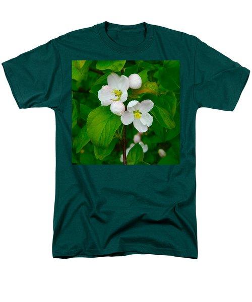 Men's T-Shirt  (Regular Fit) featuring the photograph Apple Blossoms by Johanna Bruwer