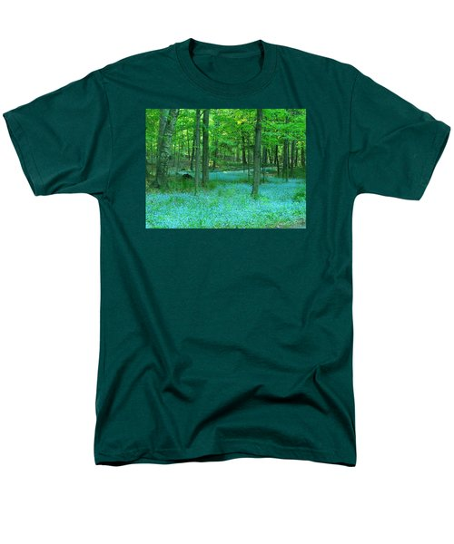 Forget-me-nots In Peninsula State Park Men's T-Shirt  (Regular Fit) by David T Wilkinson