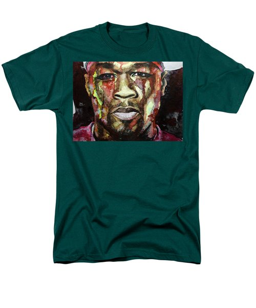 Men's T-Shirt  (Regular Fit) featuring the painting Get Rich Or Die Tryin' by Laur Iduc