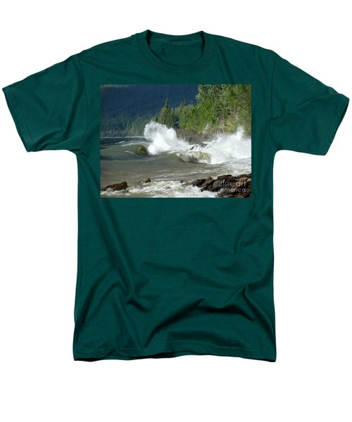 Stormy Lake Men's T-Shirt  (Regular Fit) by Leone Lund