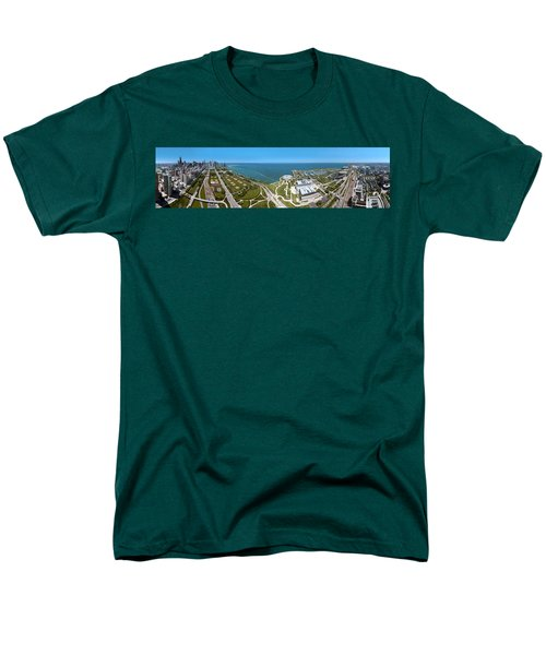 180 Degree View Of A City, Lake Men's T-Shirt  (Regular Fit) by Panoramic Images
